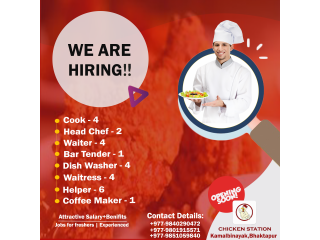 Vacancy for restaurant
