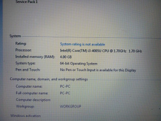 I3 Lenovo Laptop on sale With 500 Gb Harddisk and 4 Gb RAM With orginal charger and 64 BIT OS price