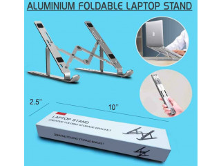 Portable Aluminum Laptop Bracket - 1950/- only. Free Delivery Order Now: 9849499355